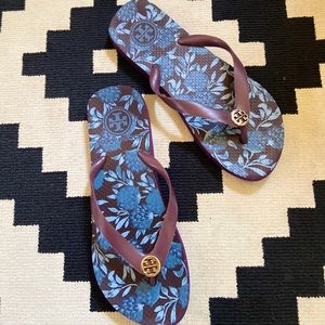 Tory Burch Sz 9 Purple Thong Flip Flops